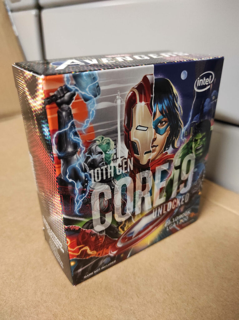 Verpackung des Intel Core i9-10900K Limited Avengers Edition